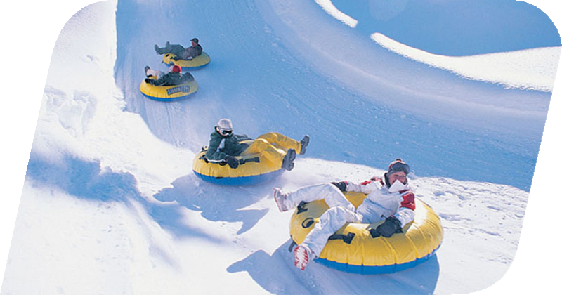Skiing with <em>Snow tubing</em>