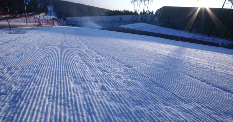 Outdoor skiing track
